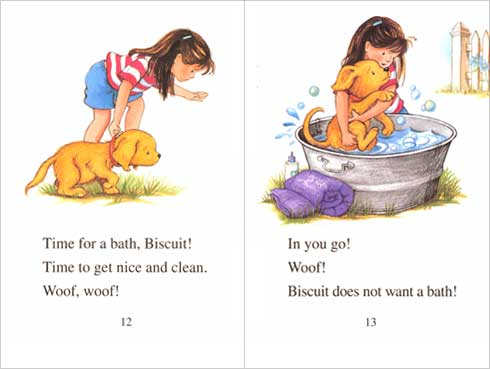 Bathtime for Biscuit illustration